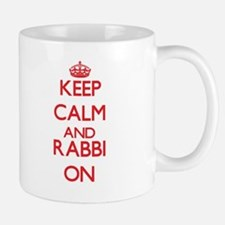 Keep Calm and Rabbi ON Mugs