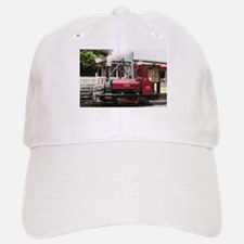 Red Steam train engine locomotive, Wales, Unit Baseball Baseball Cap