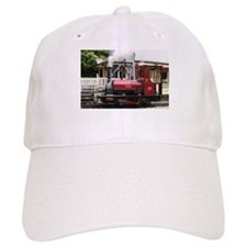 Red Steam train engine locomotive, Wales, Unit Baseball Cap