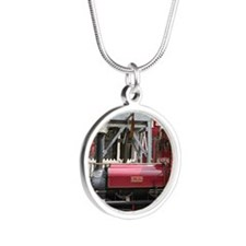 Red Steam train engine locomotive, Wales Necklaces