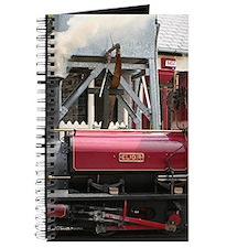 Red Steam train engine locomotive, Wales, Journal