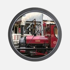 Red Steam train engine locomotive, Wale Wall Clock