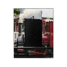 Red Steam train engine locomotive, W Picture Frame