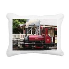 Red Steam train engine l Rectangular Canvas Pillow