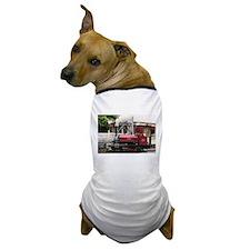 Red Steam train engine locomotive, Wal Dog T-Shirt