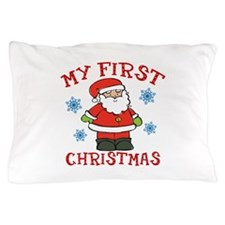 Baby's First Christmas Santa Cute Pillow Case