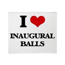 I Love Inaugural Balls Throw Blanket