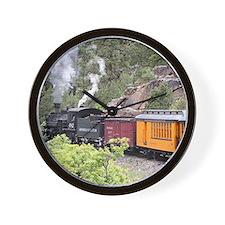 Steam train engine, Colorado, USA, 9 Wall Clock
