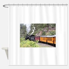 Steam train engine, Colorado, USA, Shower Curtain
