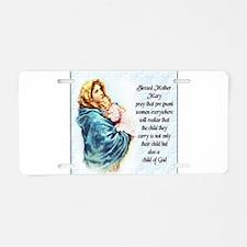 ProLife Prayer Aluminum License Plate