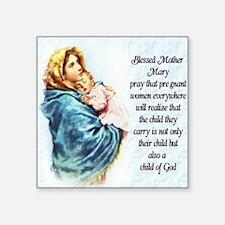 "ProLife Prayer Square Sticker 3"" x 3"""