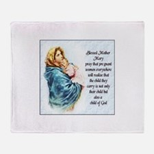 ProLife Prayer Throw Blanket