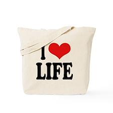 I Love Life Tote Bag