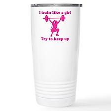 Cute Cross fit woman Travel Mug