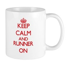 Keep Calm and Runner ON Mugs