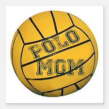 """Polo Mom Square Car Magnet 3"""" x 3"""""""