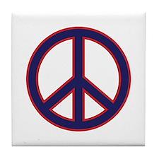 Patriotic Peace Tile Coaster
