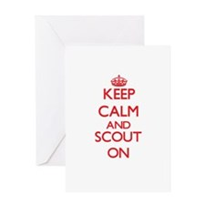 Keep Calm and Scout ON Greeting Cards