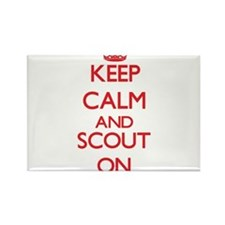 Keep Calm and Scout ON Magnets