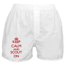 Keep Calm and Scout ON Boxer Shorts