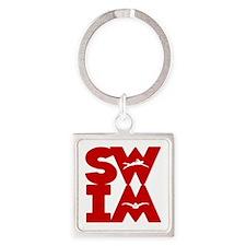 SWIM BLOCK Square Keychain