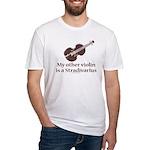 Stradivarius Violin Humor Fitted T-Shirt