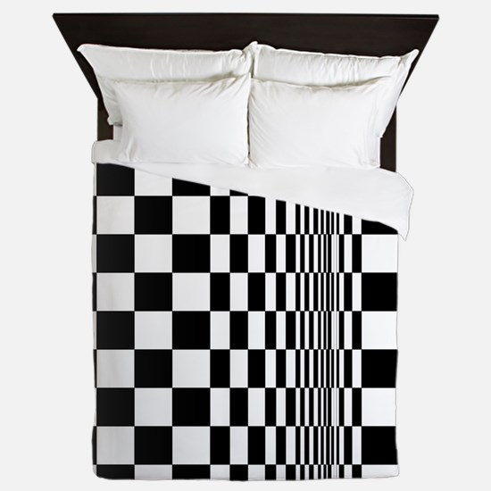 Op Art Curl Queen Duvet