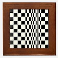 Op Art Curl Framed Tile