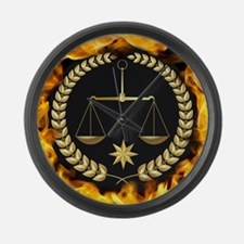 Flaming Justice Large Wall Clock