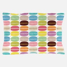 Rainbow French Macarons Pattern Pillow Case