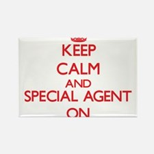 Keep Calm and Special Agent ON Magnets