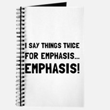 Twice For Emphasis Journal