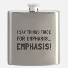 Twice For Emphasis Flask