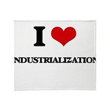 I Love Industrialization Throw Blanket