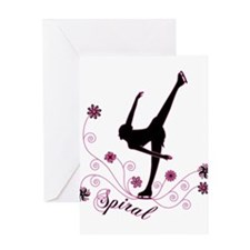 Unique Figure skating Greeting Card