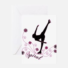 Cute Figure skating Greeting Card