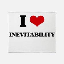 I Love Inevitability Throw Blanket