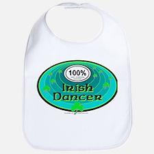 100 PERCENT IRISH DANCER Bib