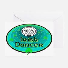 100 PERCENT IRISH DANCER Greeting Cards (Pk of 10)