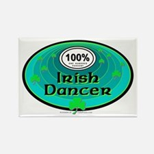 100 PERCENT IRISH DANCER Rectangle Magnet