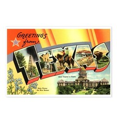 Greetings from Texas Postcards (Package of 8)