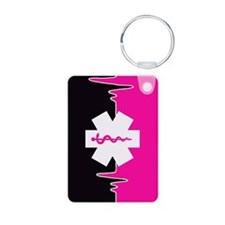 Pink Emergency Medical Aluminum Photo Keychains