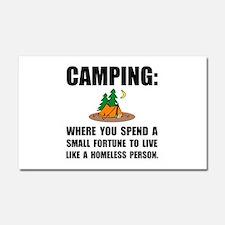 Camping Homeless Car Magnet 20 x 12