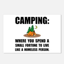 Camping Homeless Postcards (Package of 8)