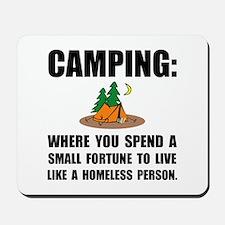 Camping Homeless Mousepad