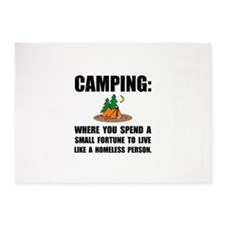 Camping Homeless 5'x7'Area Rug