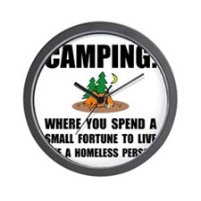 Camping Homeless Wall Clock