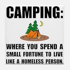 Camping Homeless Tile Coaster