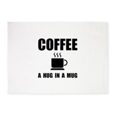 Coffee Hug In Mug 5'x7'Area Rug