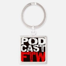 podcast for the win new Square Keychain